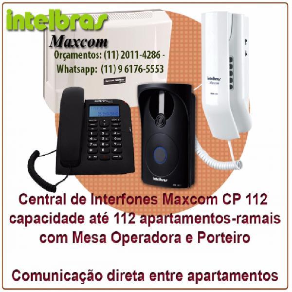 Central de interfones intelbras maxcom cp 112