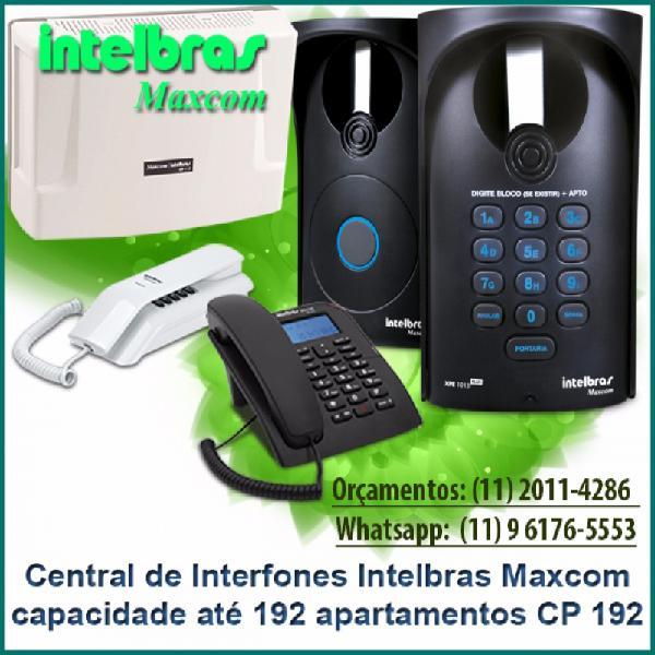 Central de interfones intelbras maxcom cp 192