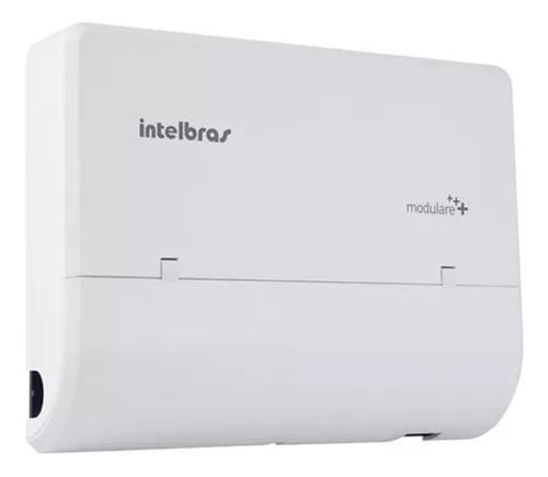 Micro pabx intelbras modulare+ 2 linhas 4 ramais/4x12* full