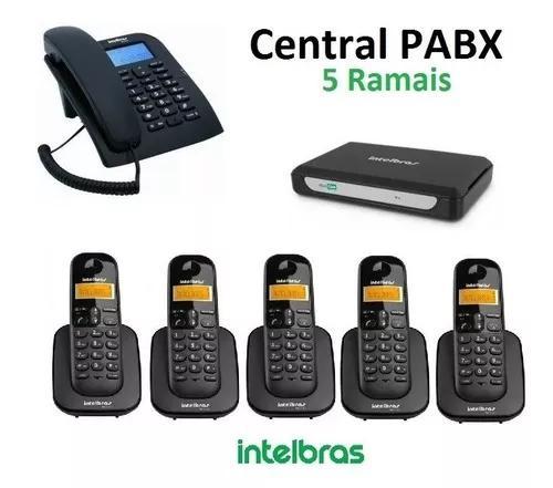 Pabx telefone central c 5 ramais s