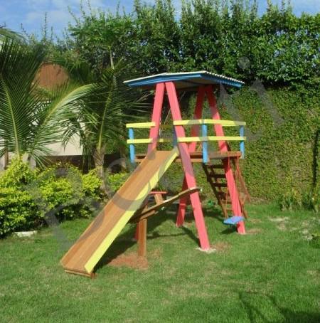 Parquinho – playground em madeira pq001b