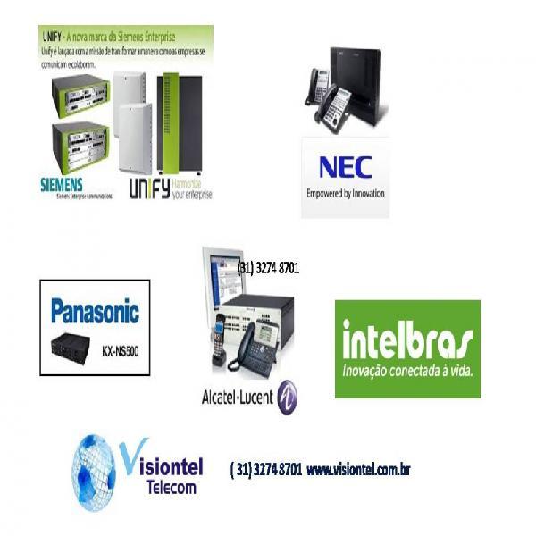 Vendas, instalaçôes e manutenção em centrais de pabx em