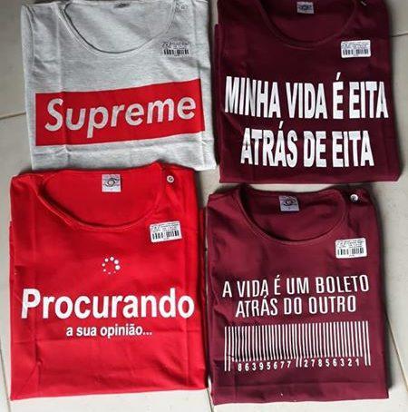 Camisetas masculinas e femininas