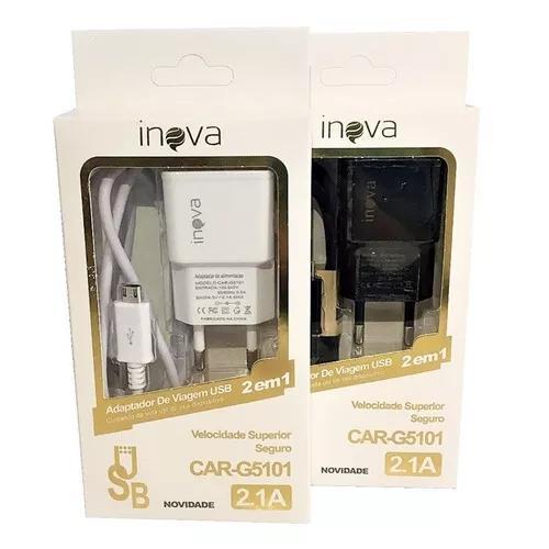 10 carregador inova v8 original g5101 2.1a atacado