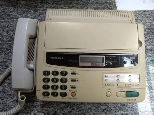 Aparelho de fax panasonic com papel térmico e cabos