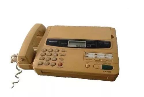 Aparelho de fax panasonic com papel térmico e cabos usado