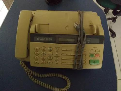Aparelho de fax sharp fo-365 - aceito troca