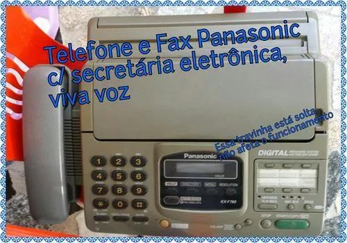 Aparelho de telefone e fax c/ secret. eletrônica e viva voz