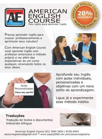 Aulas de inglês personalisadas - ensino a distância