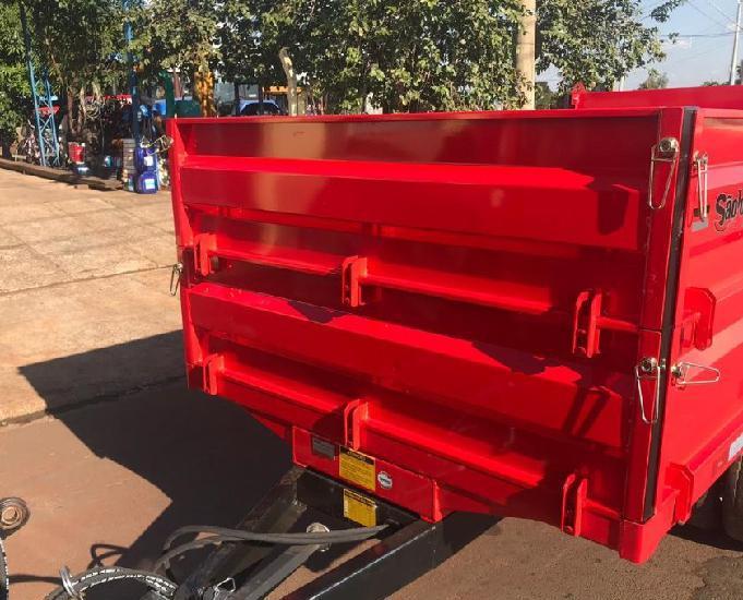 Carreta agrícola metálica basculante hidraulica (nova)