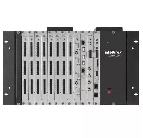 Central digital pabx híbrida impacta 300 rack intelbras