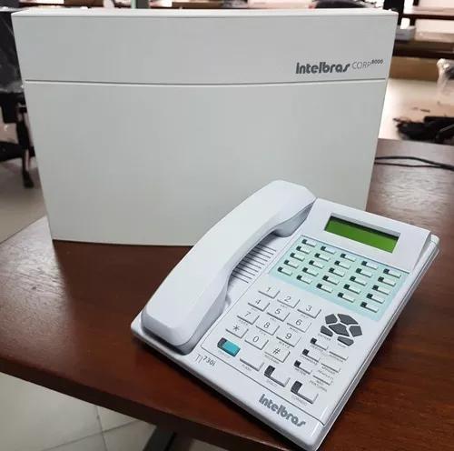Central pabx telefônica corp 8000 intelbrás + terminal