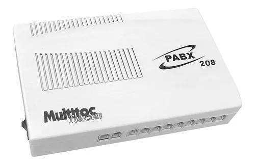 Central telefonica pabx 208 2 linhas x 08 ramais multitoc