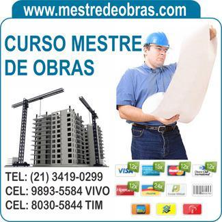 Construção civil, curso mestre de obras mais certificado