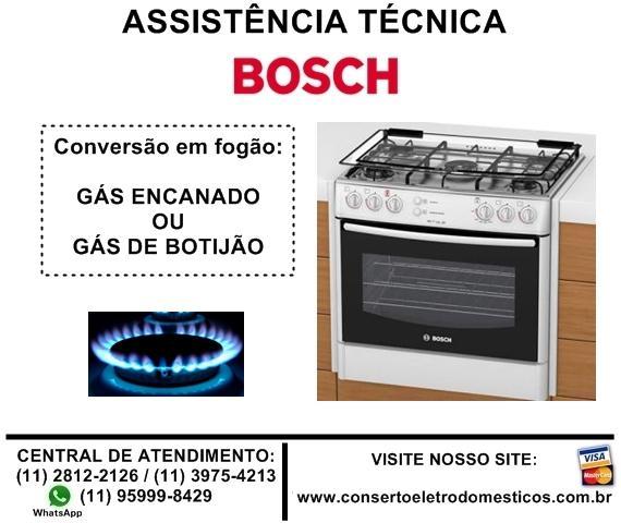 Conversão em fogão bosch para gás encanado ou botijão
