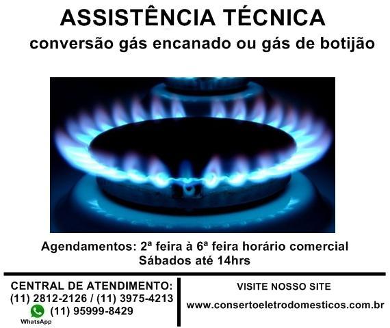 Conversão fogão para gás de rua ou gás de botijão