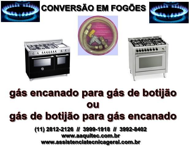 Conversão para fogão gás encanado ou gás de botijão