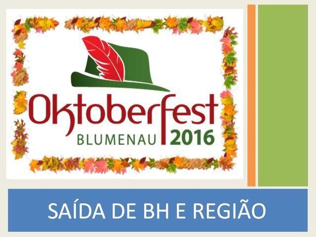 Excursão para oktoberfest 2016 saindo de bh