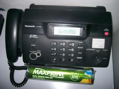 Fax panasonic kx-ft 932br novíssimo + 2 bobinas novas papel
