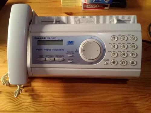 Fax sharp ux-p100 - fax + telefone + copiadora