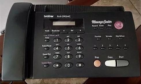 Fax telefone secretária eletr brother 270mc (leia