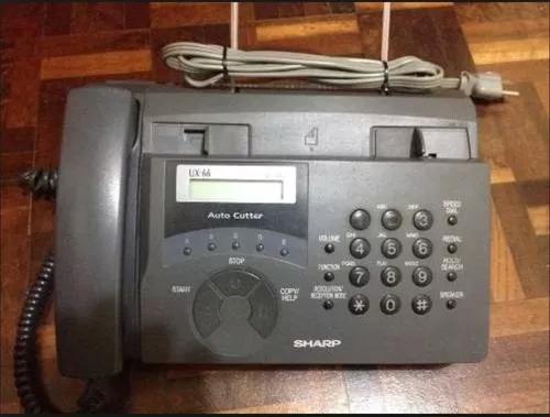 Fax telefone sharp original ux 66 77 ótimo estado unico