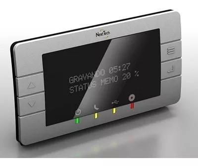 Gravador telefônico digital que grava