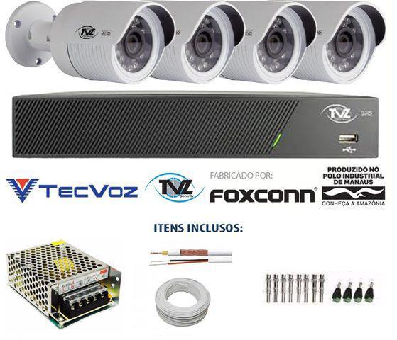 Instalação de 04 câmeras ahd monitoradas pelo celular!