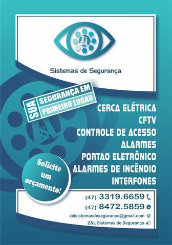 Instalação e manutenção de câmeras, alarmes, vídeo