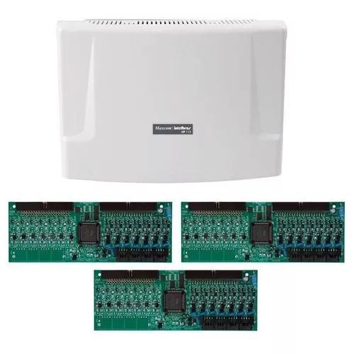 Kit central comunicação intelbras cp 112 + placa 48 ramais