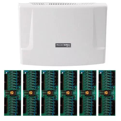Kit central comunicação intelbras cp 112 + placa 96 ramais