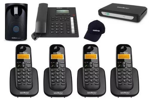 Kit minicom slim central telefônica fácil instalar 5
