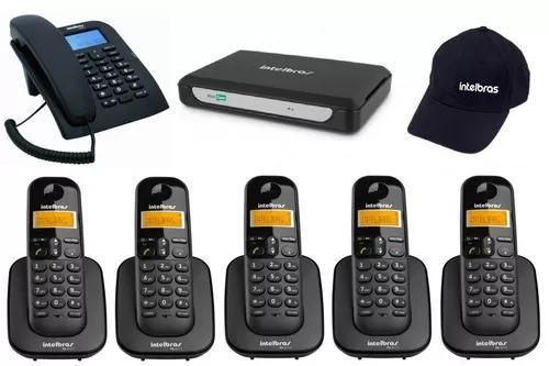 Kit minicom slim central telefônica fácil instalar 6