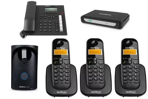 Kit pabx analogica minicom plus com mais 2 ramal intelbras