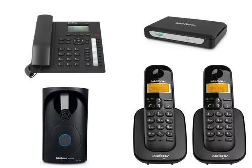 Kit pabx central telefonica minicom plus intelbras 3 ramais