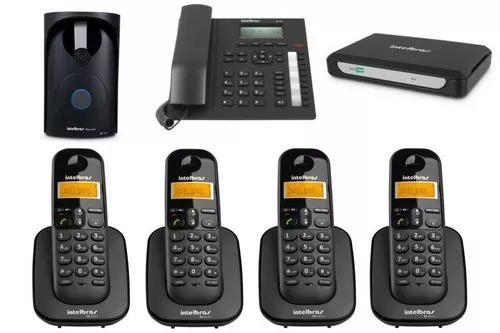 Kit pabx central telefonica minicom plus intelbras 5 ramais