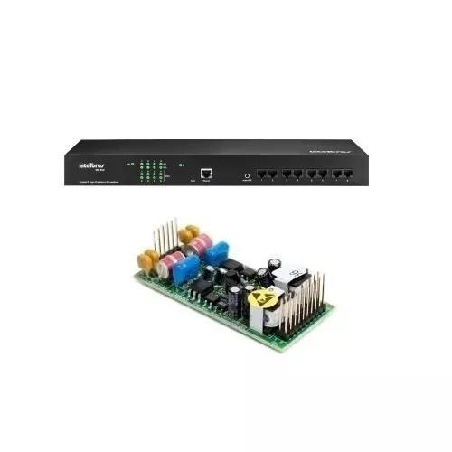 Kit Pabx Ip50 Ramais Voip Cip850 C/ 2 Linhas Anál.