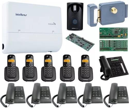 Kit pabx modulare mais 2x8 disa intelbras acessorios kit 15
