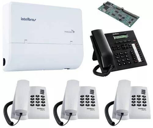 Kit pabx telefonia fixa 2x4 disa intelbras ti 830 i kit 14