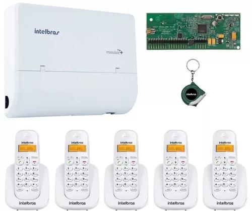 Kit pabx telefonia fixa 2x4x5 ramal s