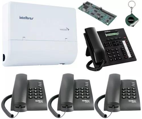 Kit pabx telefonia fixa bina 2x4 disa pleno ti 830i kit 13