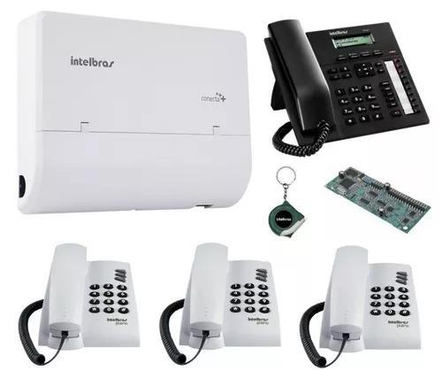 Kit pabx telefonia fixa bina 2x4 disa pleno ti 830i kit 16