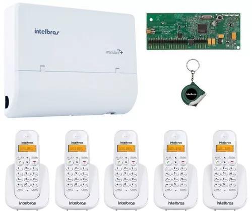 Kit pabx telefonia intelbras para escritorio