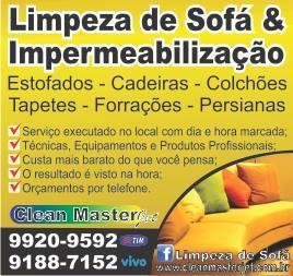 Limpeza e impermeabilização de sofás e estofados
