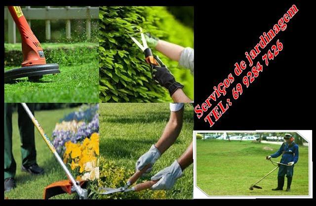 Limpeza terrenos jardim jardineiro ji-parana roçador cortar
