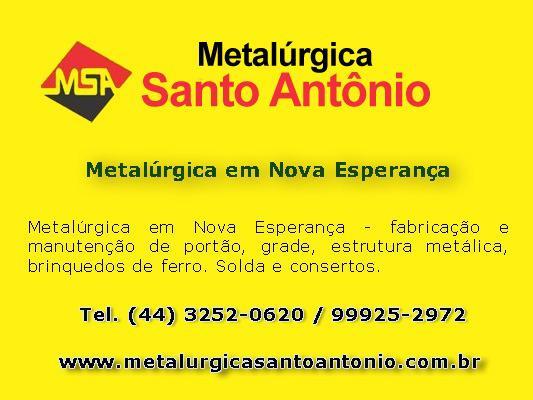 Metalúrgica em nova esperança   melalúrgica santo antonio