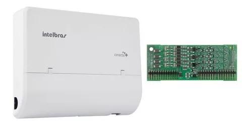 Microcentral pabx conecta mais 2 linhas 8 ramais intelbras