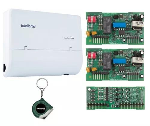Microcentral telefonia 4x8 modulare mais intelbras kit 4