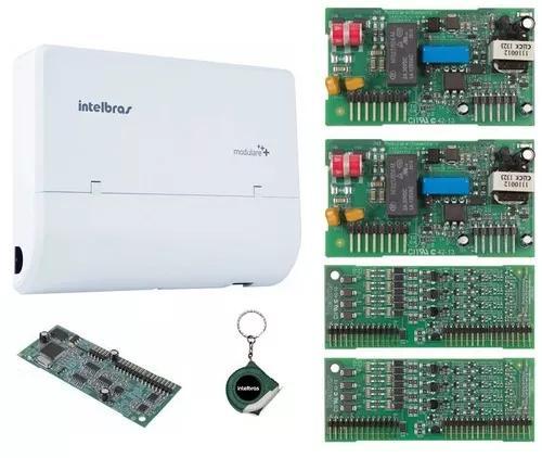Microcentral telefonia fixa 4x12 modulare + disa intelbras