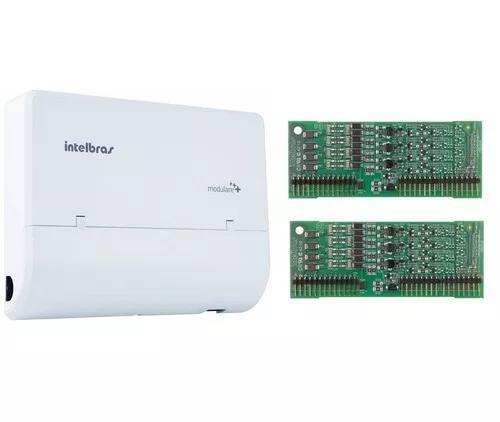 Microcentral telefonia fixa modulare + 2x12 intelbras kit 2